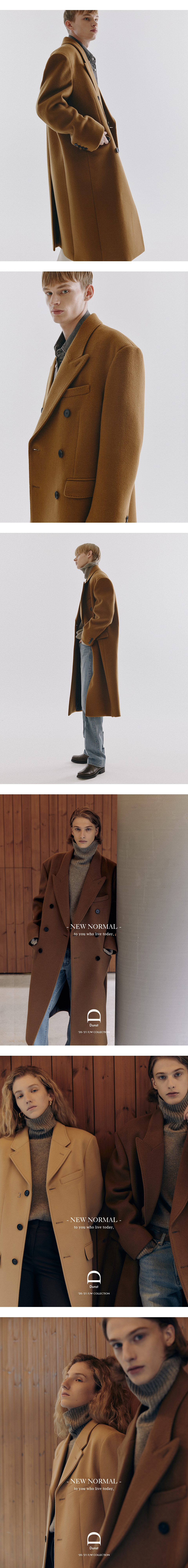 던스트 포 맨(DUNST FOR MAN) UNISEX NEW TAILORED DOUBLE-BREASTED CASHMERE COAT OLIVE CAMEL_M_UDCO0F115CM
