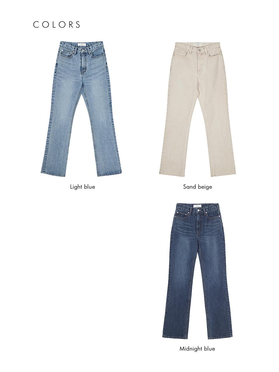 던스트 포 우먼(DUNST FOR WOMEN) ESSENTIAL SEMI-BOOTCUT JEANS LIGHT BLUE_UDPA1E208B1