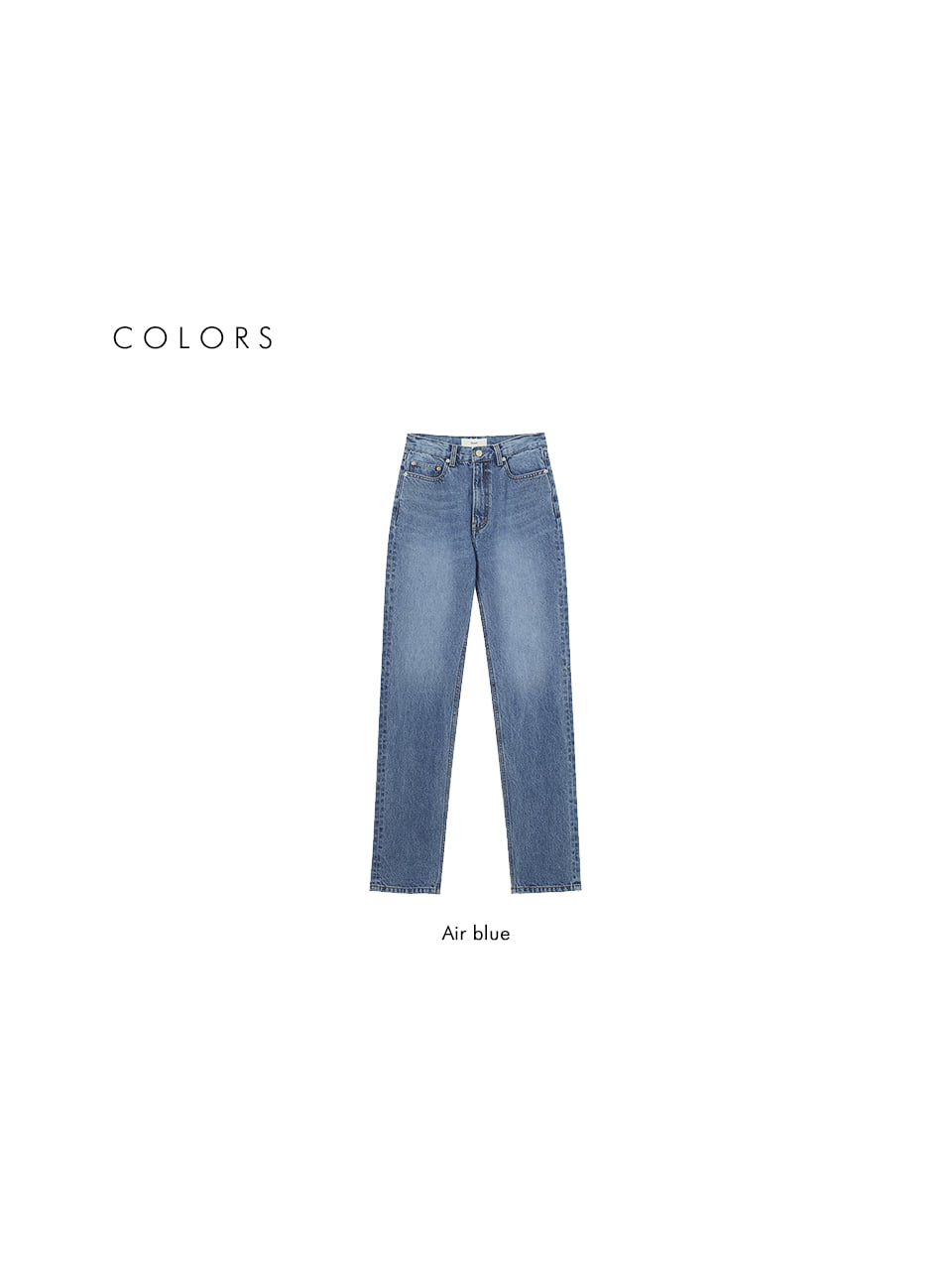 던스트 포 우먼(DUNST FOR WOMEN) HIGH-RISE STRAIGHT JEANS AIR BLUE_UDPA1E213B1