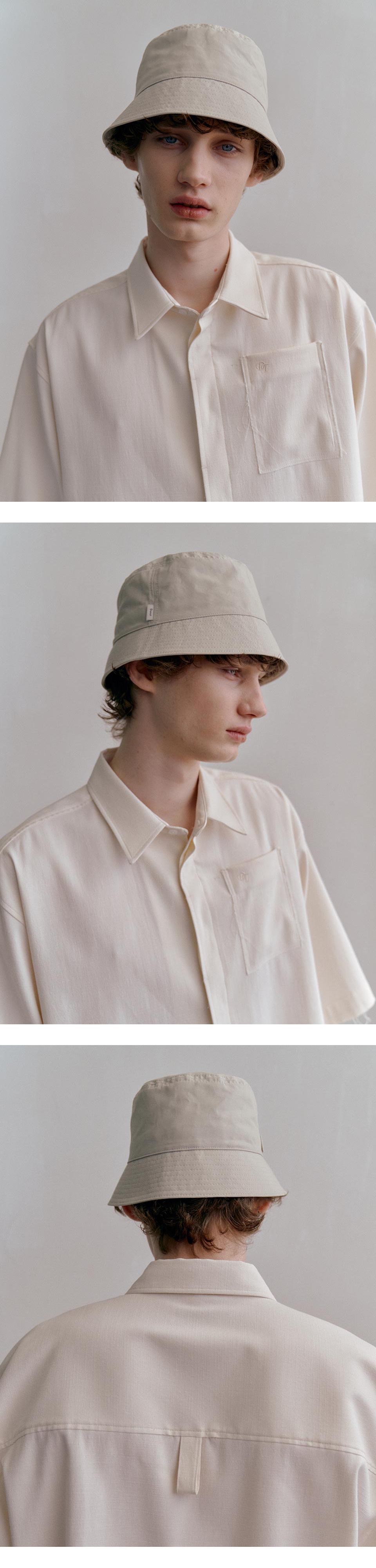 던스트 포 맨(DUNST FOR MEN) UNISEX MODERN BUCKET HAT LIGHT GREIGE_M_UDHE1E112I2
