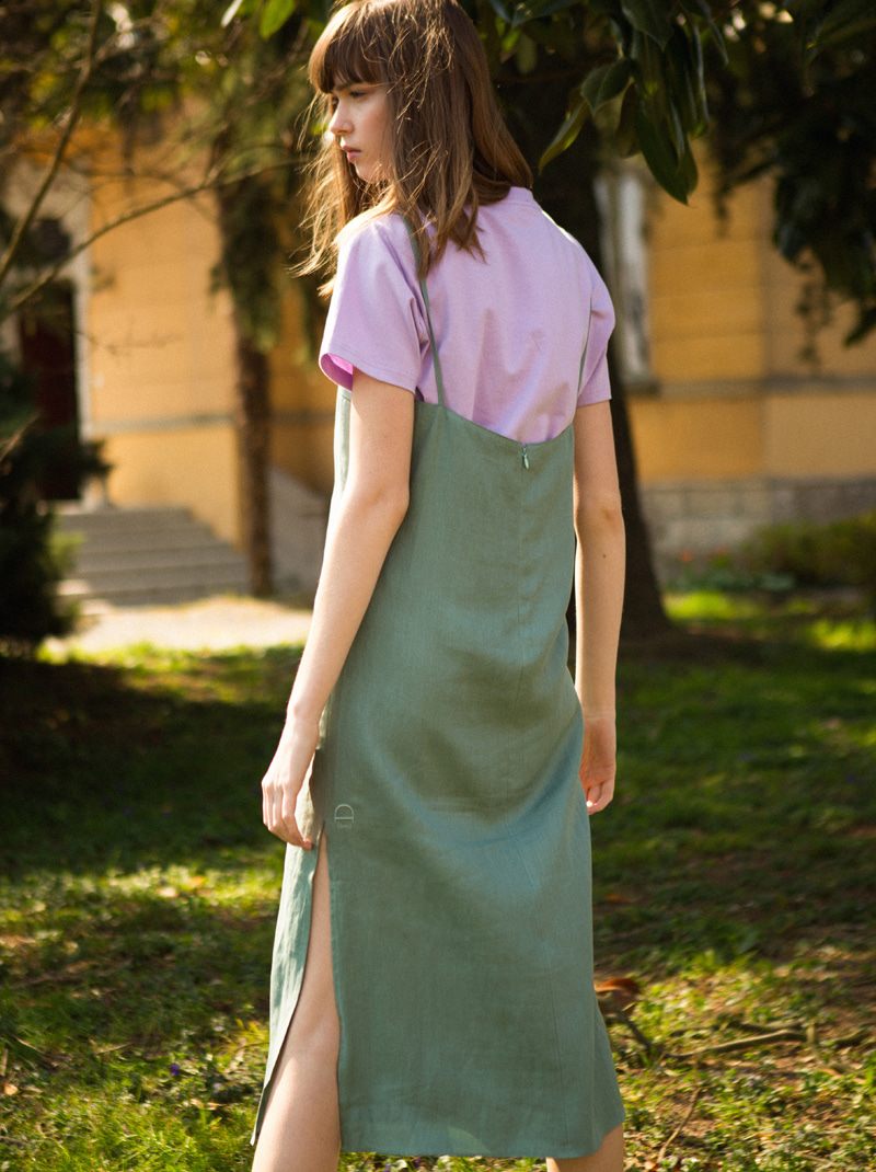 SQUARE NECK SLIP DRESS (MINT)