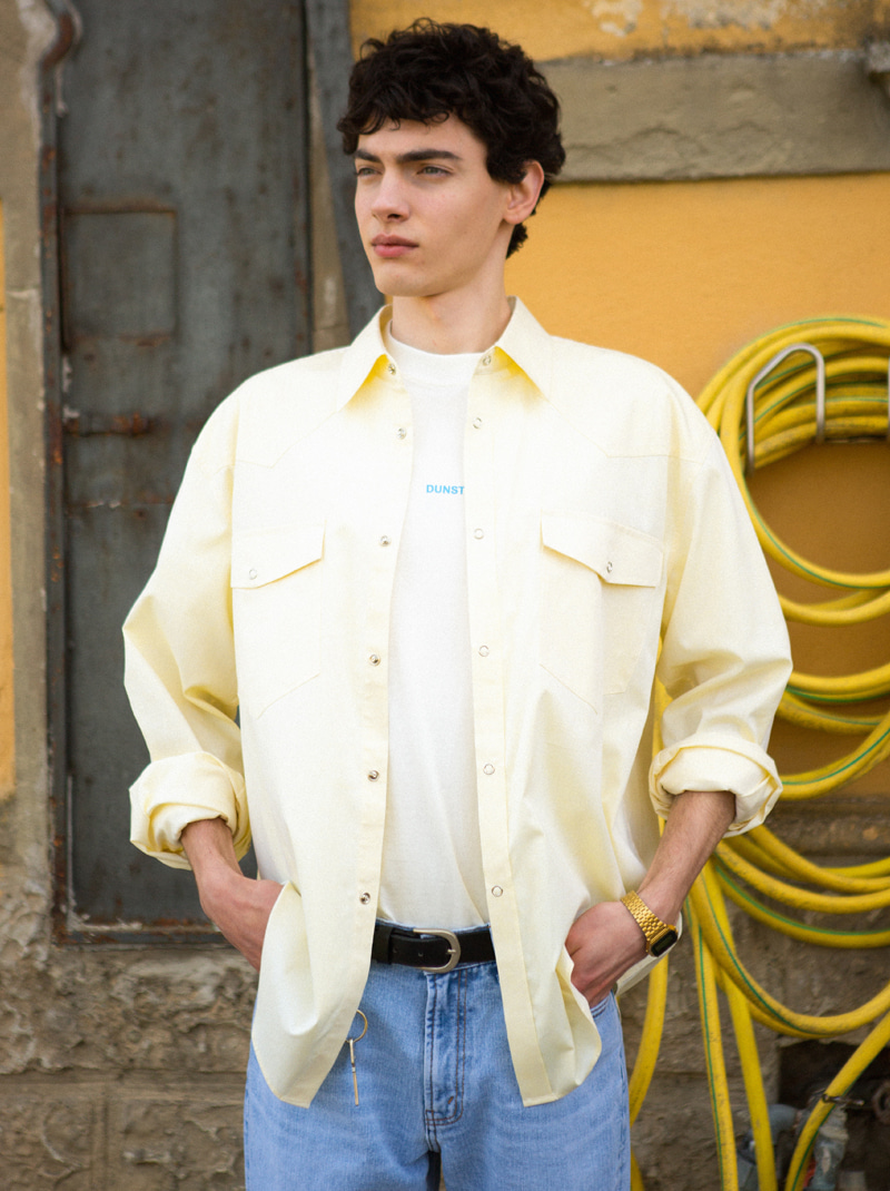 UNISEX LOOSE WESTERN SHIRT (YELLOW)
