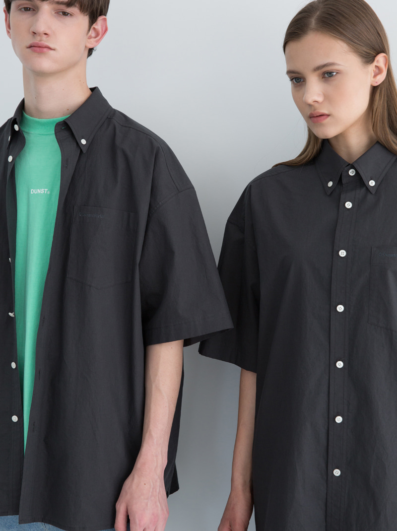 UNISEX DUNST OFFICIAL OVERSIZED SHIRT (CHARCOAL)