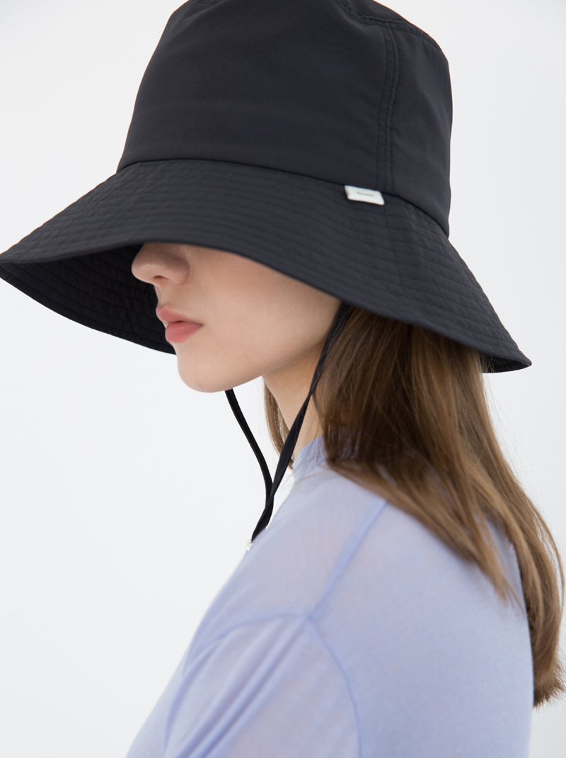 UNISEX WIDE BRIMMED BUCKET HAT (BLACK)