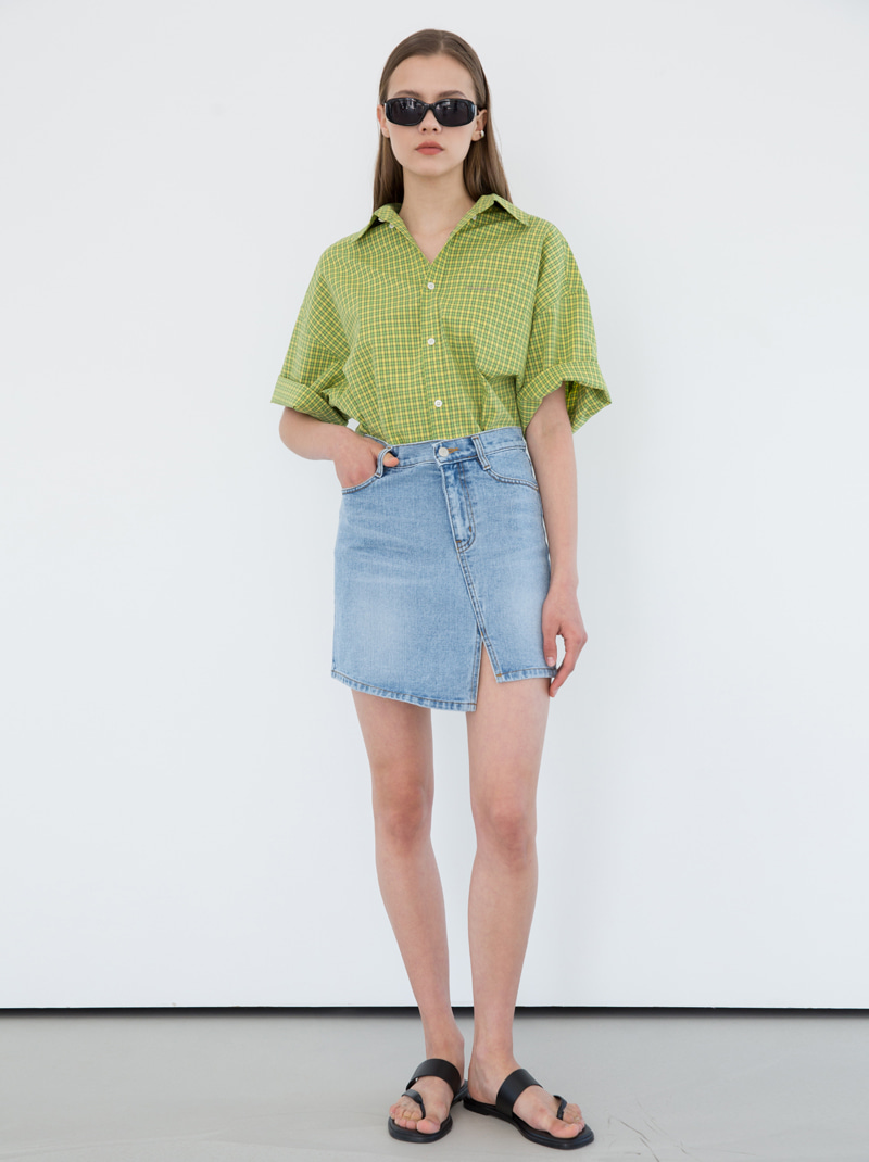 UNISEX DUNST OFFICIAL OVERSIZED SHIRT (GREEN CHECK)
