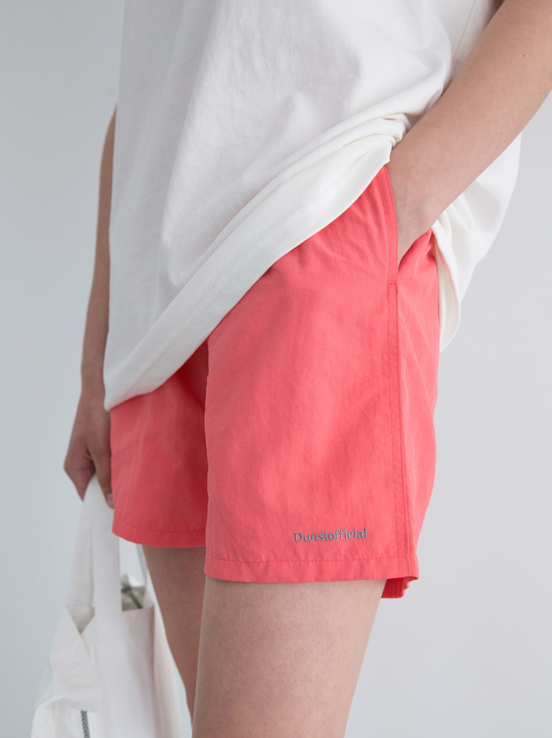 UNISEX DUNST OFFICIAL NYLON SHORTS (CORAL)