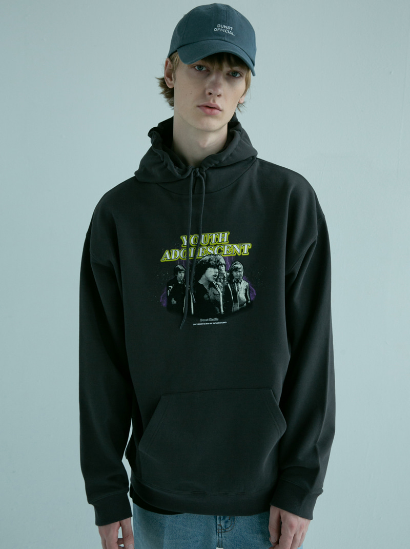 UNISEX NEWTRO YOUTH GRAPHIC HOODIE CHARCOAL