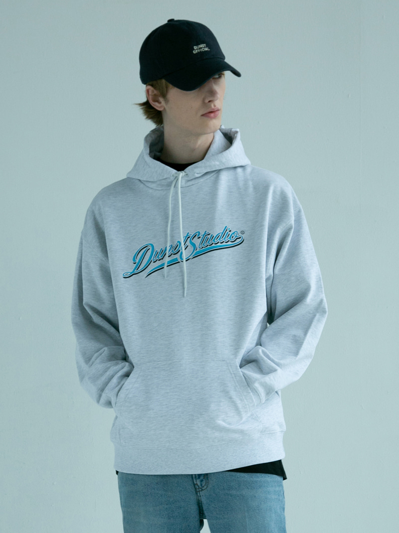 UNISEX DUNST STUDIO GRAFFITI HOODIE LIGHT MELANGE