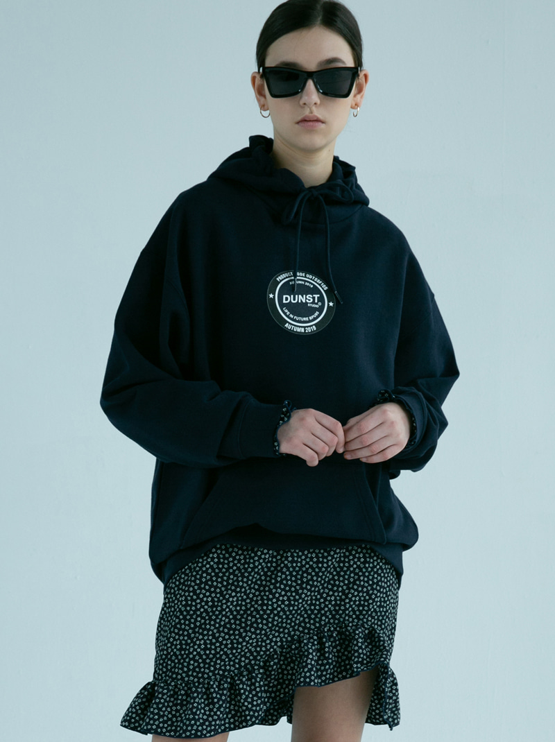 UNISEX NEWTRO CIRCLE GRAPHIC HOODIE DARK NAVY
