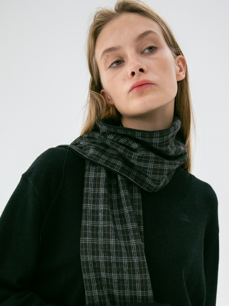 UNISEX REVERSIBLE CHECK MUFFLER BLACK