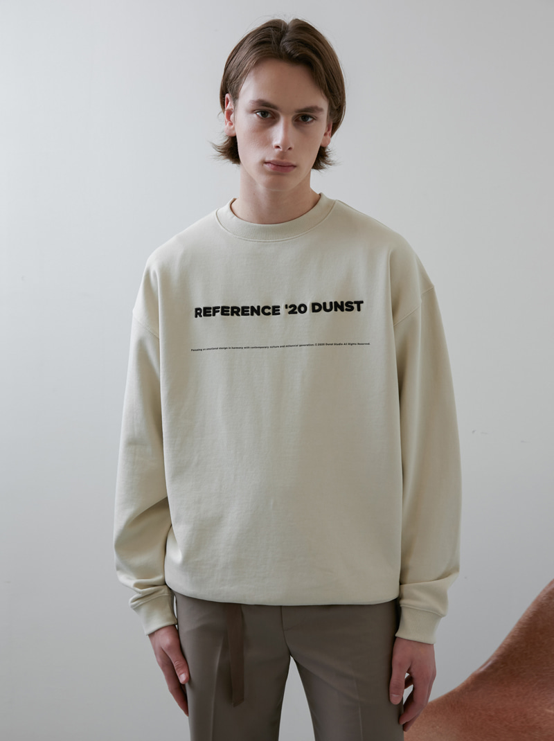 UNISEX REFERENCE SWEATSRHIT CREAM